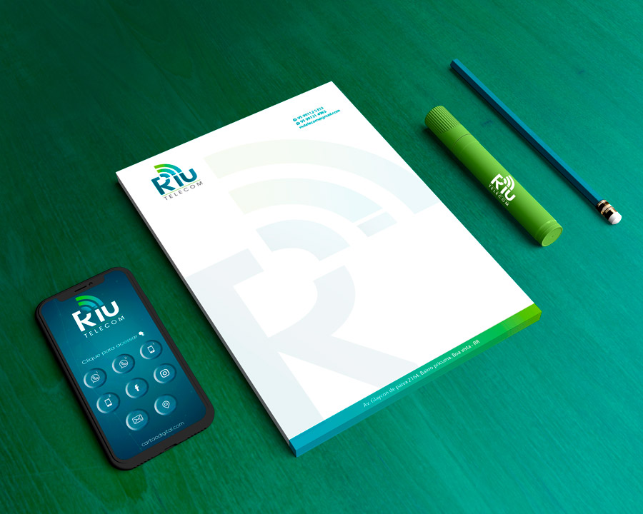 criacao-marca-identidade-visual-marketing-riu-telecom-provedor-de-internet-Papel-Timbrado