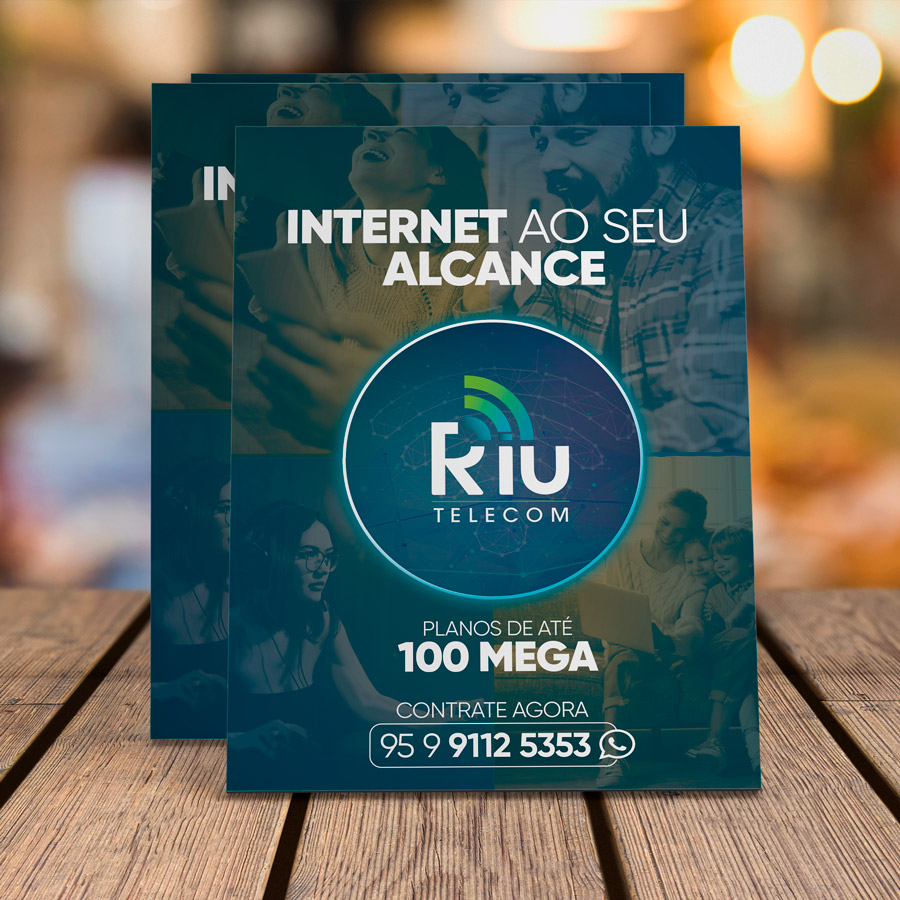 criacao-marca-identidade-visual-marketing-riu-telecom-provedor-de-internet-panfleto-frente