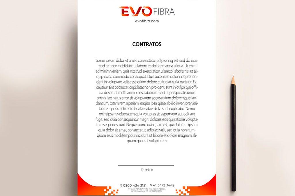 criacao-papel-timbrado-identidade-visual-para-provedor-de-internet-evofibra